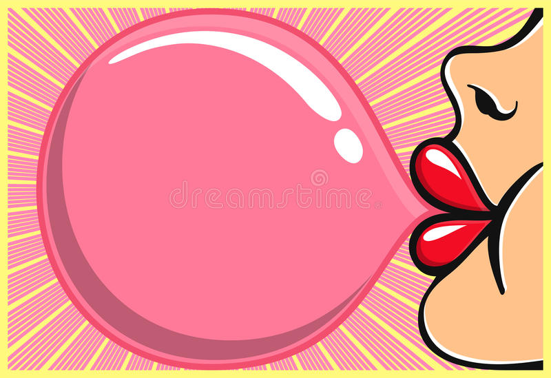Bubblegum Stock Illustrations.