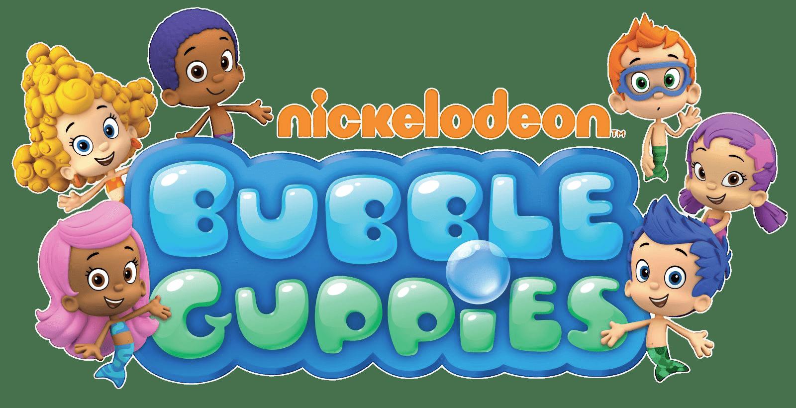 Bubble Guppies Logo transparent PNG.