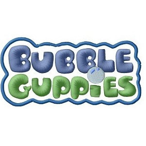 Bubble Guppies Logo Iron on Patch.