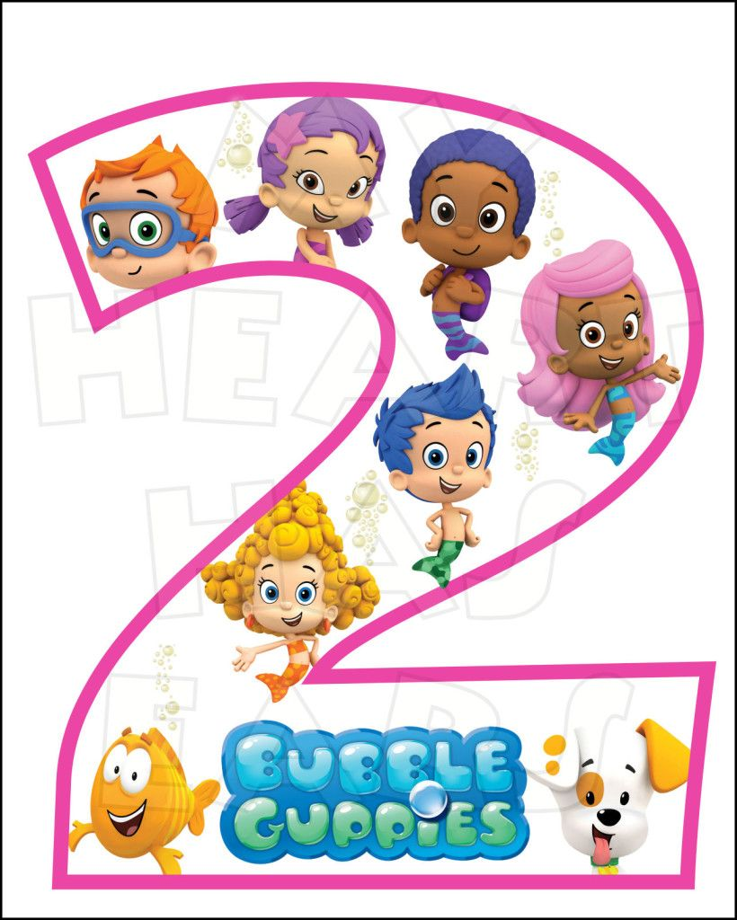 Bubble Guppies 2nd Birthday INSTANT DOWNLOAD digital clip art :: My.