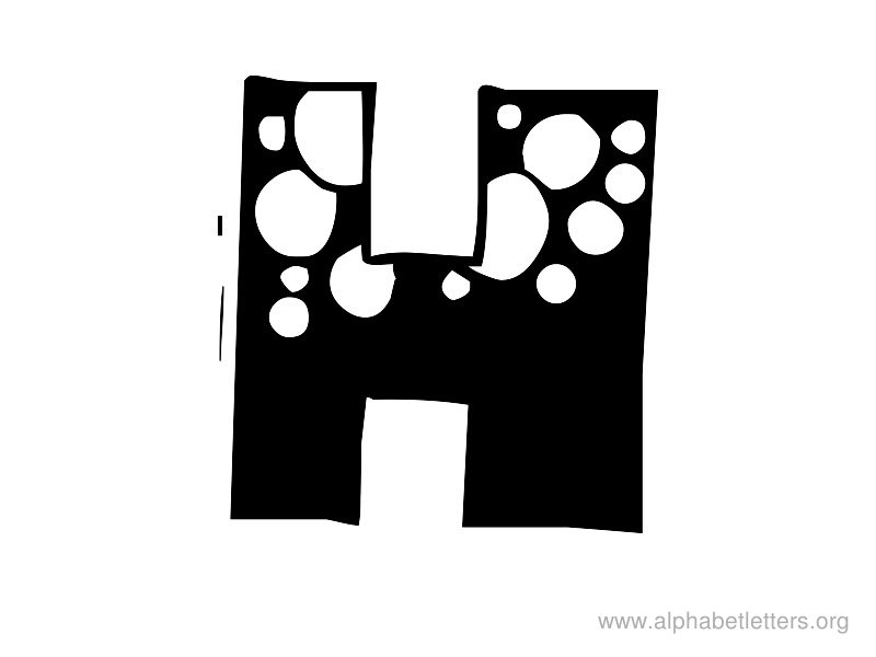 Bubble Letter H Clipart.