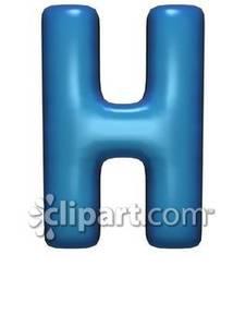 Bubble Letter H.