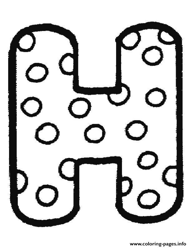 bubble letter h clipart #18