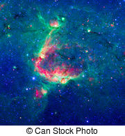 Stock Photography of The Bubble Nebula in the constellation.
