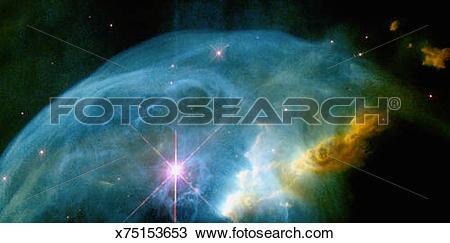Drawing of Bubble Nebula x75153653.