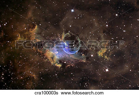 Stock Images of Bubble nebula cra100003s.