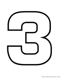 Printable Bubble Number 1 Outline.