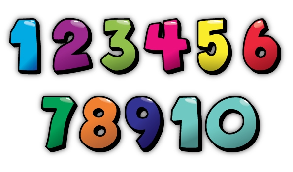 Cute numbers clipart 1 10.