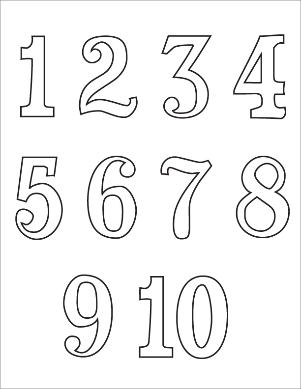 Number Coloring Pages 1.