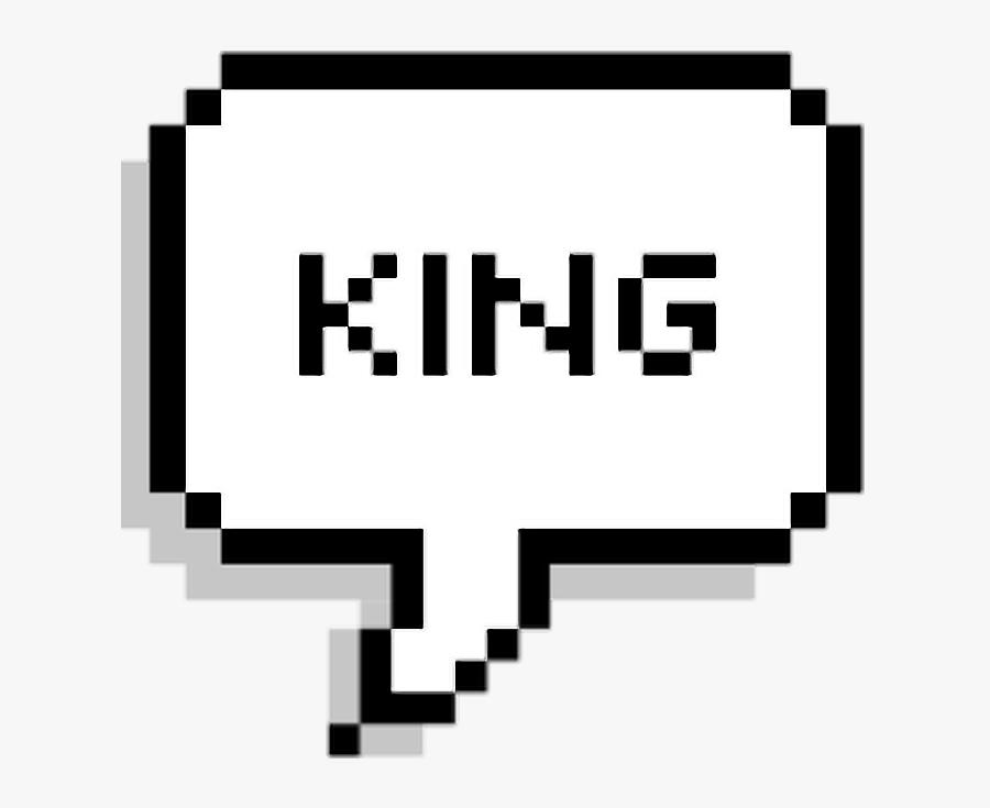 King Speech Text Bubble Overlay.