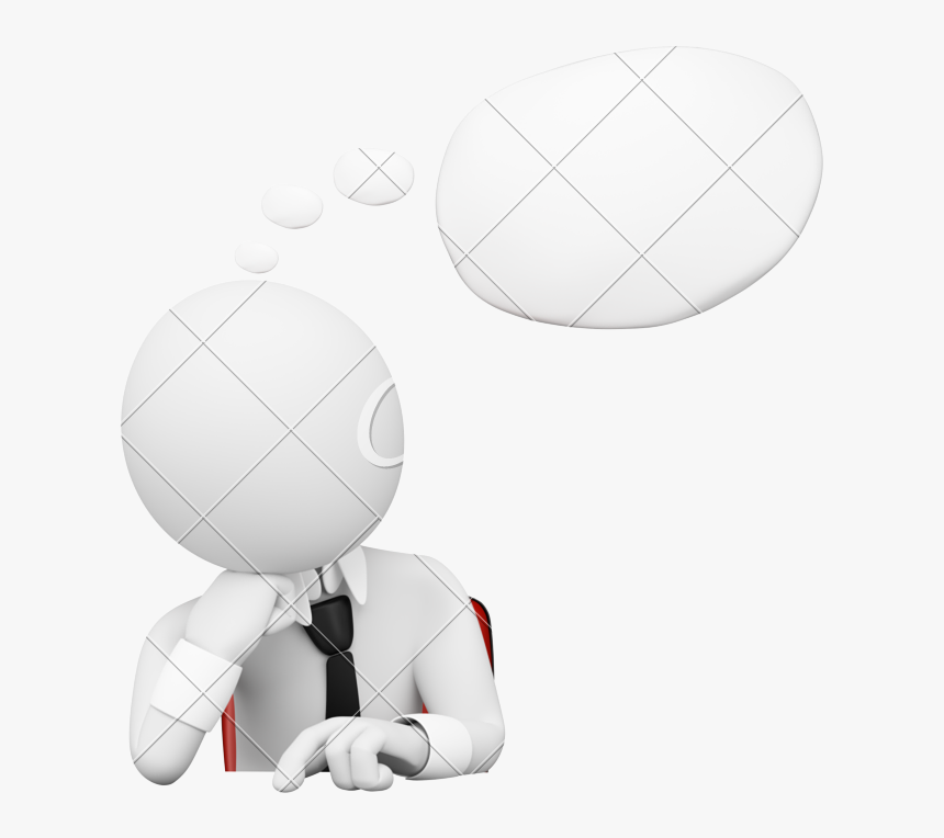3d Thought Bubble Png.