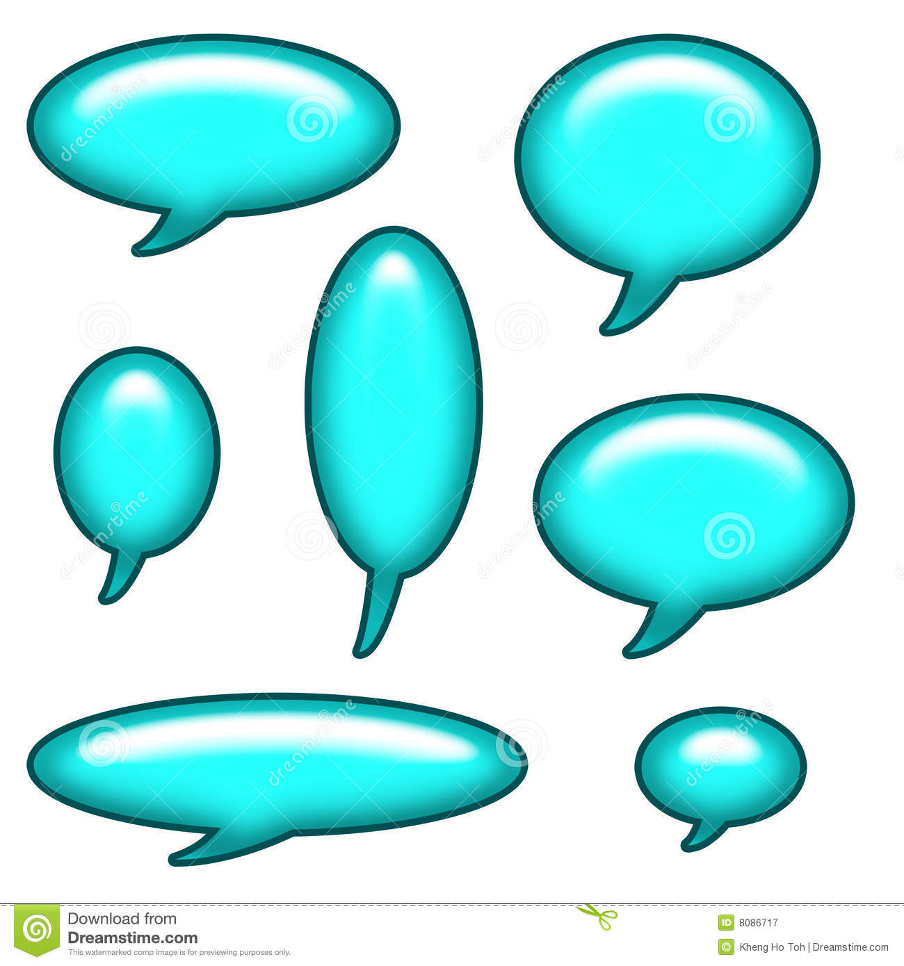 Caption Bubbles Clip Art Royalty Free Stock Images.