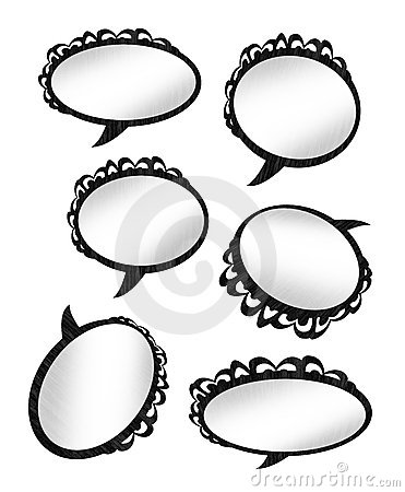 Speaking Bubble Rings Stock Photography.