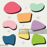 50\'s Bubble Shapes Stock Vector.
