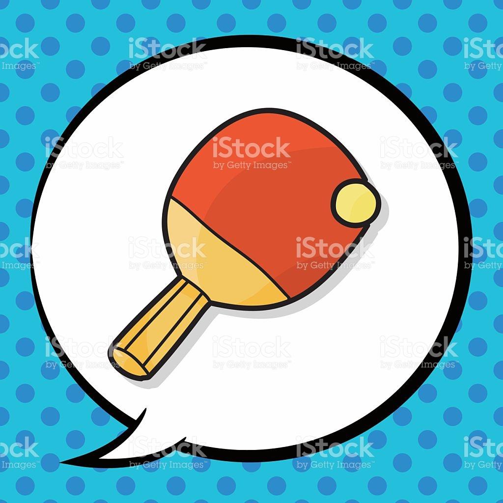 Table Tennis Doodle Speech Bubble stock vector art 497810102.