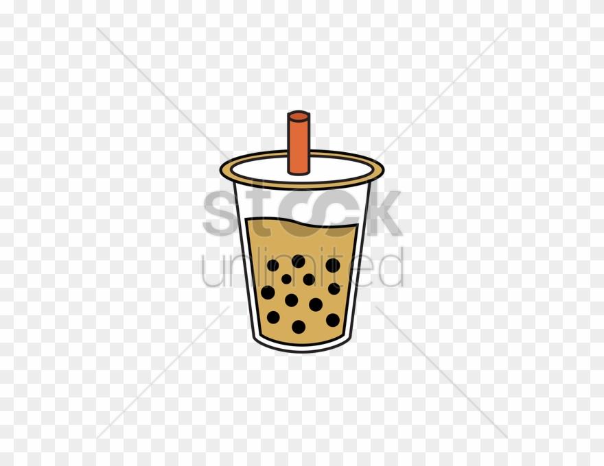 Clipart Milk Tea Glass.