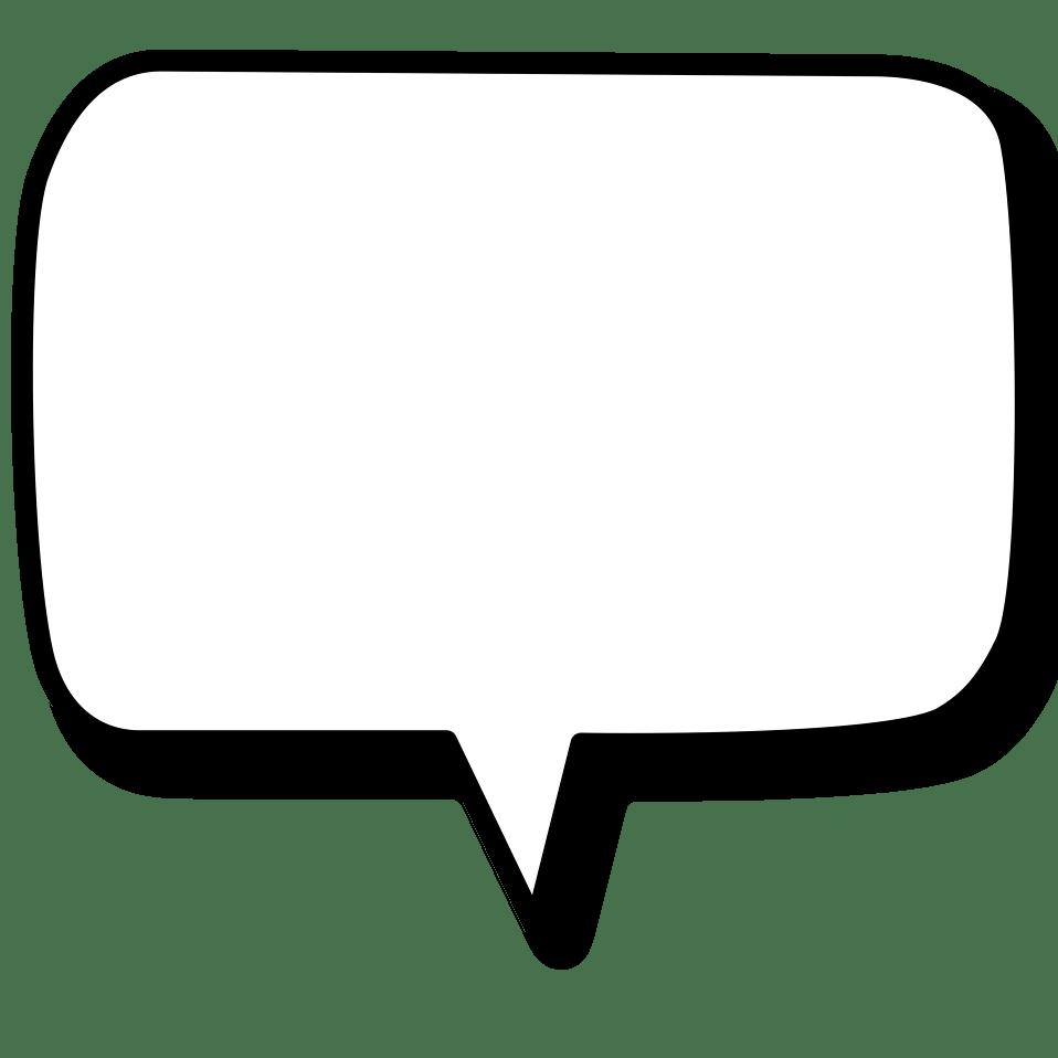 Vertical Text Bubble transparent PNG.