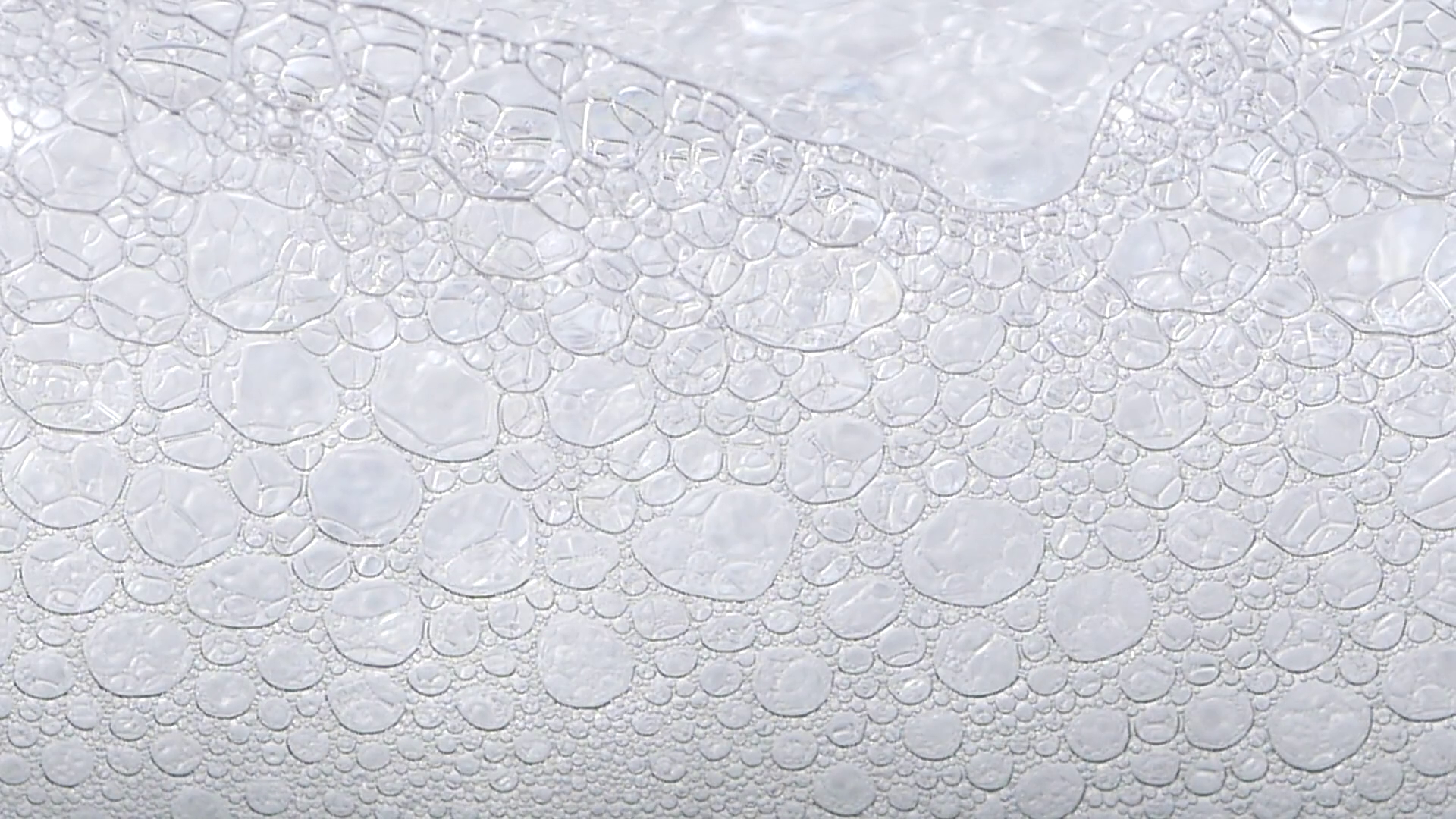 foam blue texture soap bubbles on the water Stock Video Footage.