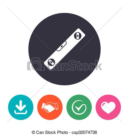 Vectors of Bubble level sign icon. Spirit tool symbol. Download.