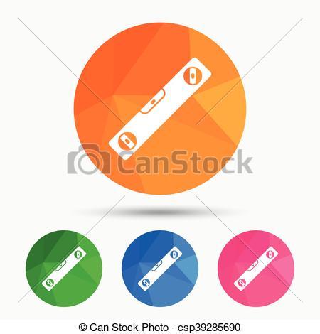 EPS Vectors of Bubble level sign icon. Spirit tool symbol.