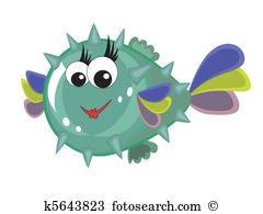 Bubblefish Clipart and Illustration. 7 bubblefish clip art vector.