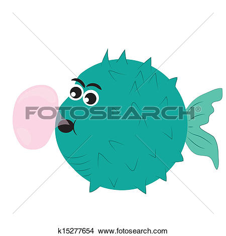 Clipart of bubble fish k15277654.