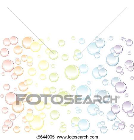Bubbles background Clipart.