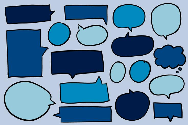 Collection of speech bubbles vector.