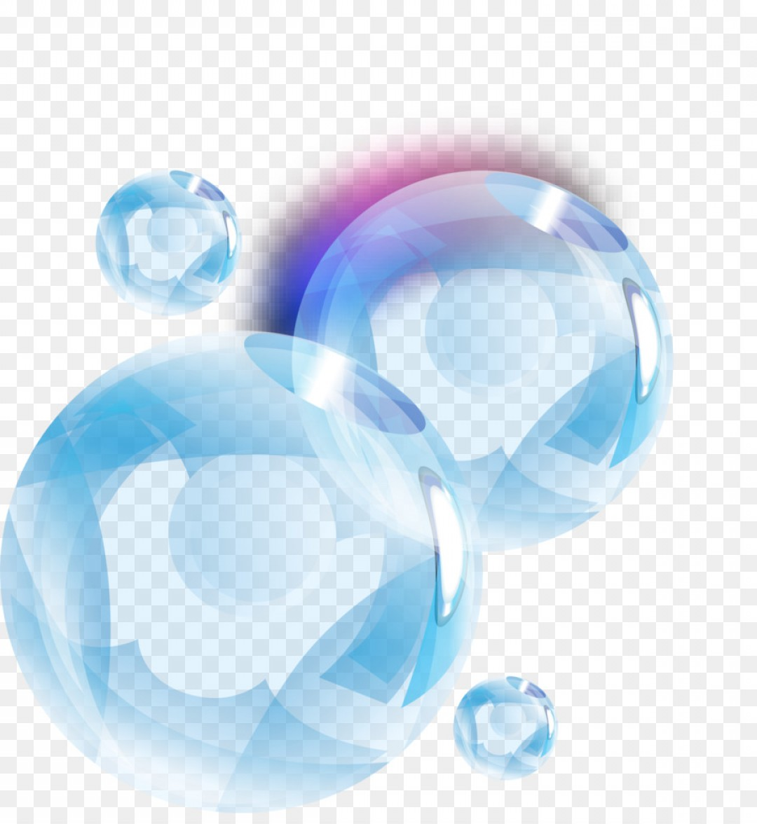 Png Blue Drop Bubble Vector Hand Painted Blue Water Dr.