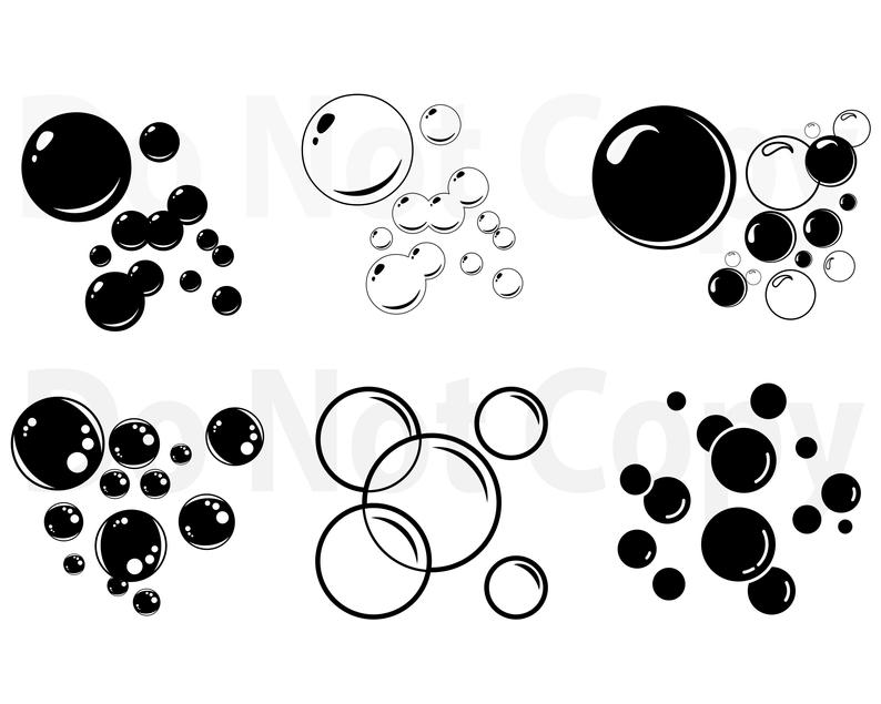Soap Bubbles SVG Bundle, Bubbles Vector, Svg file for cricut, Water Bubbles  svg, Design Elements Star silhouette, clipart Star png, dxf, esp.