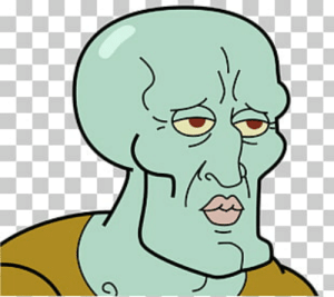 9 Two Faces of Squidward PNG Cliparts for Free Download.
