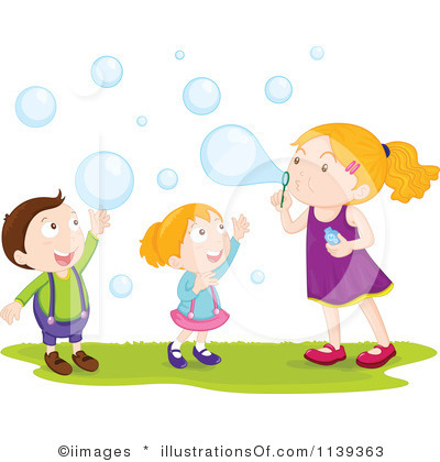 Blowing Bubbles Clip Art.