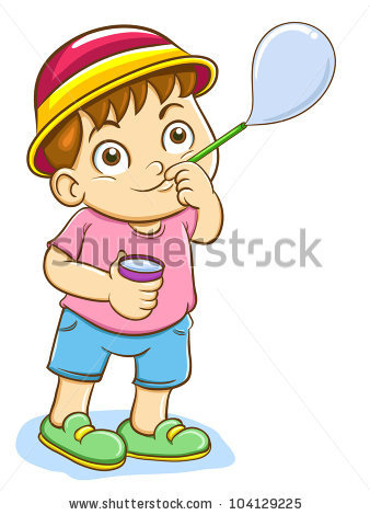 Child Blowing Bubbles Stock Images, Royalty.