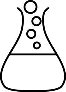 White Bubble Flask Clip Art at Clker.com.