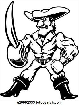 Buccaneer Mascot Clipart.