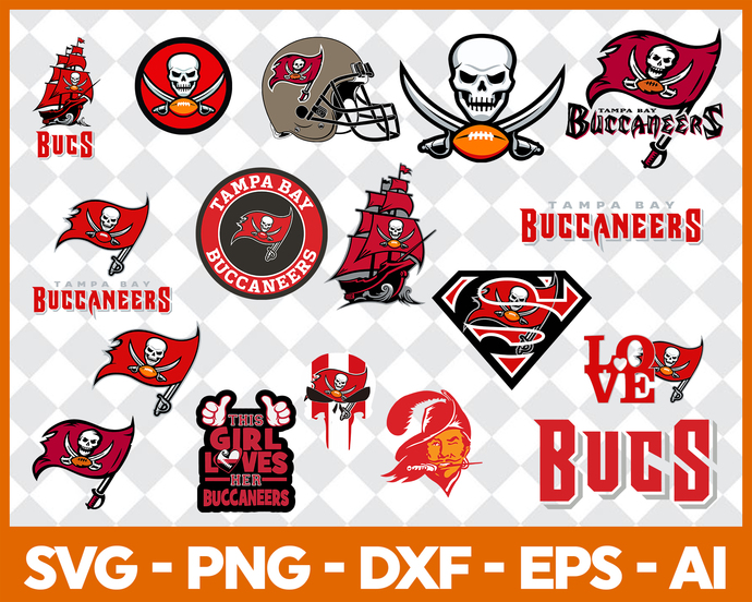 Tampa Bay Buccaneers SVG, Tampa Bay Buccaneers files, buccaneers logo,  football, silhouette cameo, cricut, digital clipart, layers, png dxf.