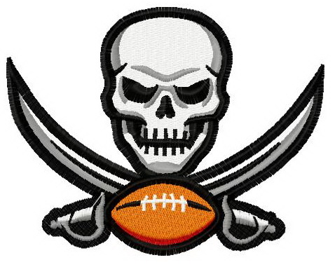 Tampa Bay Buccaneers logo 2 embroidery design.