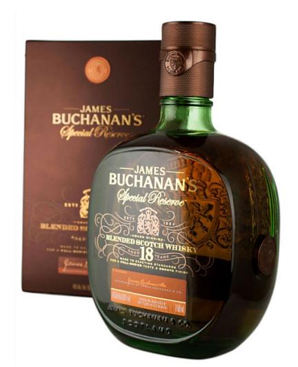 James Buchanan's Special Reserve 18 Year Scotch.