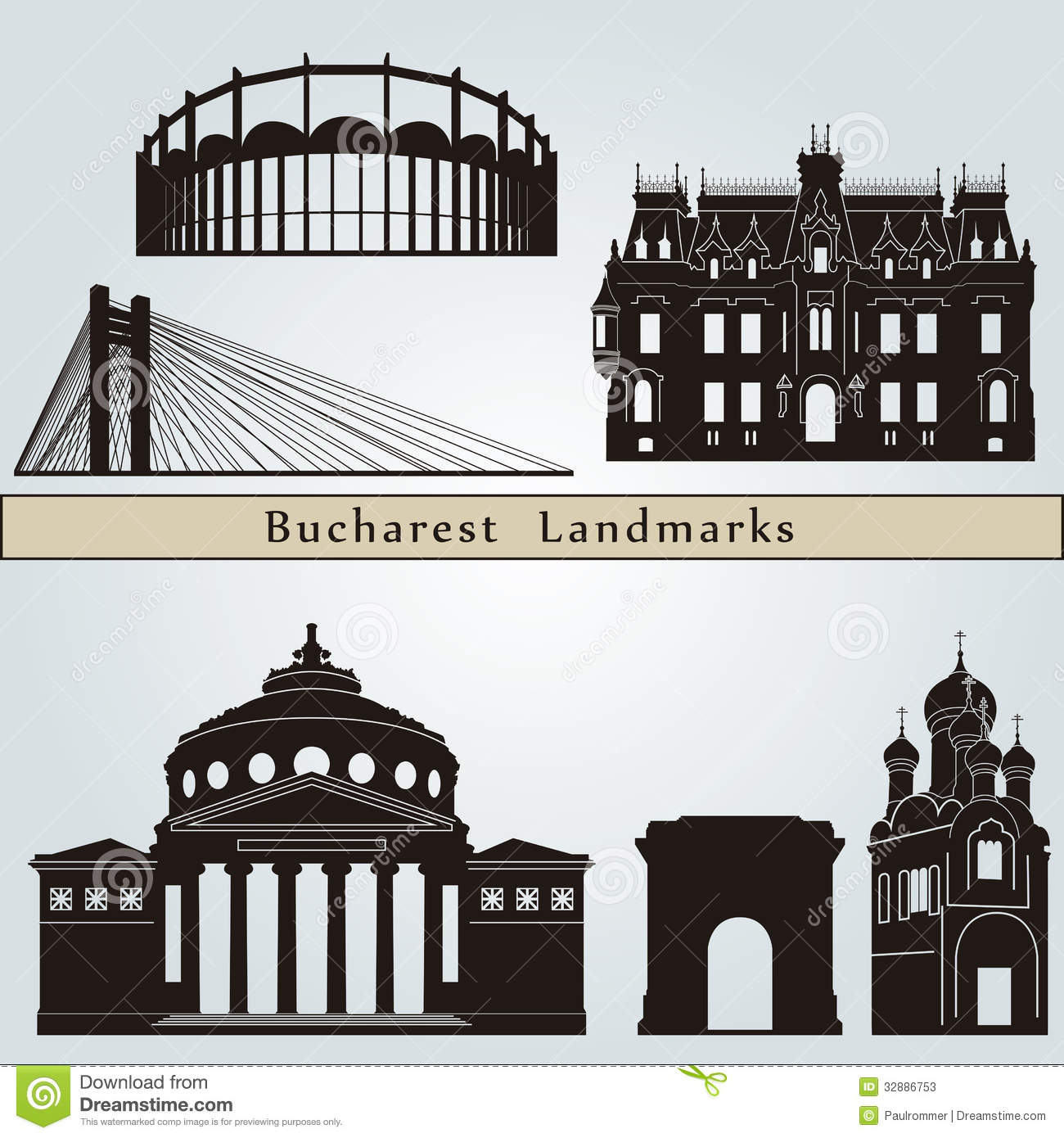 Bucharest Landmarks And Monuments Stock Photos.