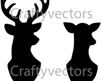 Stag and doe clipart 4 » Clipart Station.