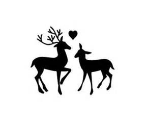 buck and doe kissing clipart.