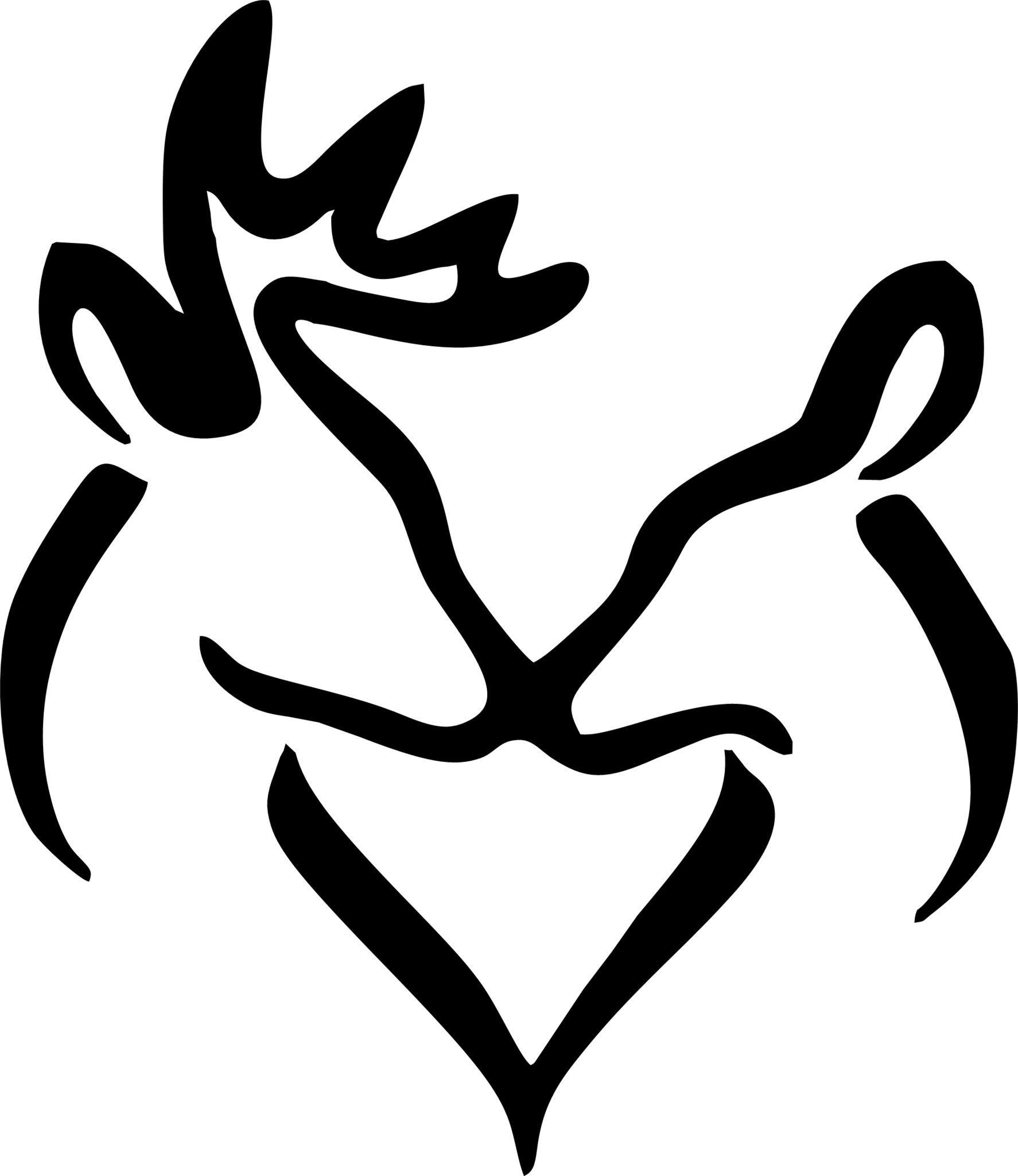 Buck Doe Silhouette at GetDrawings.com.