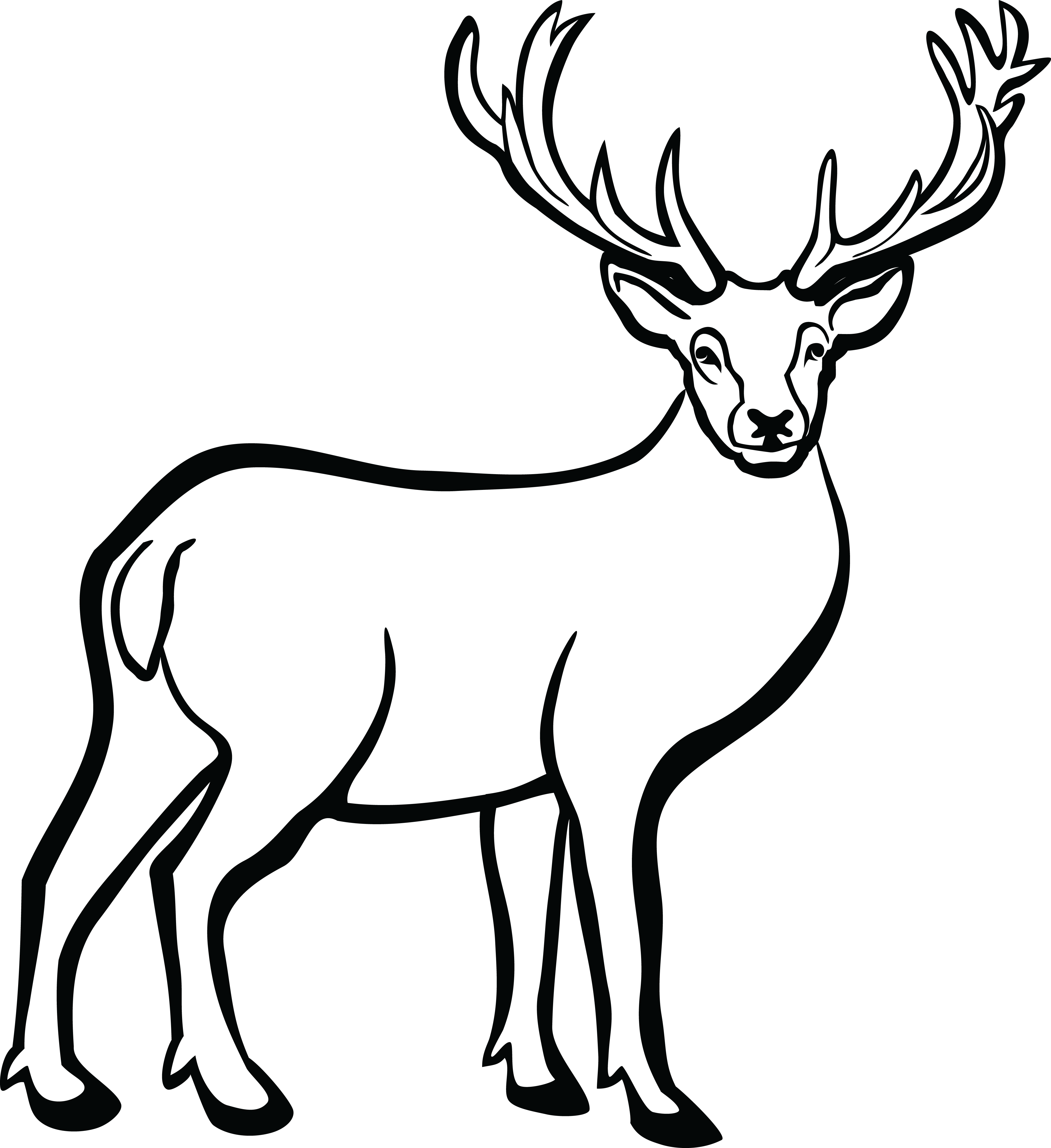 Buck clipart black and white 5 » Clipart Station.