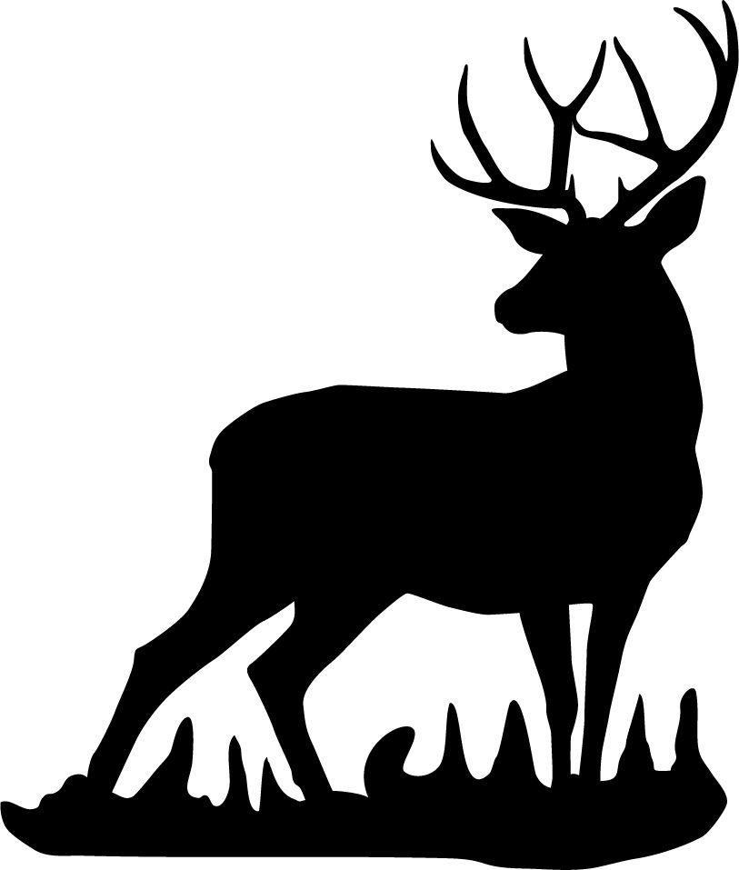 Mule Deer Buck Wall Decal.