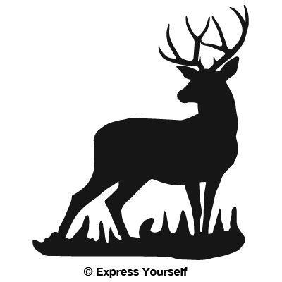 Deer Head Silhouette Clipart.