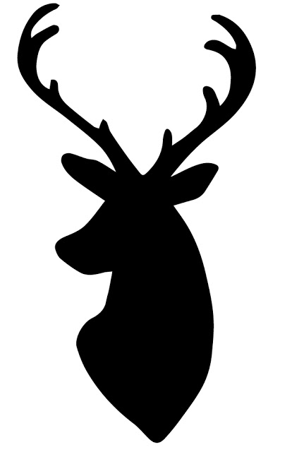 Deer Head Silhouette.