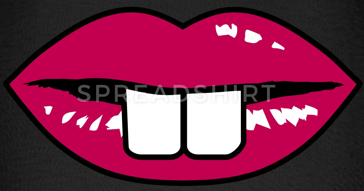 Buck teeth and red lips Baseball Cap.