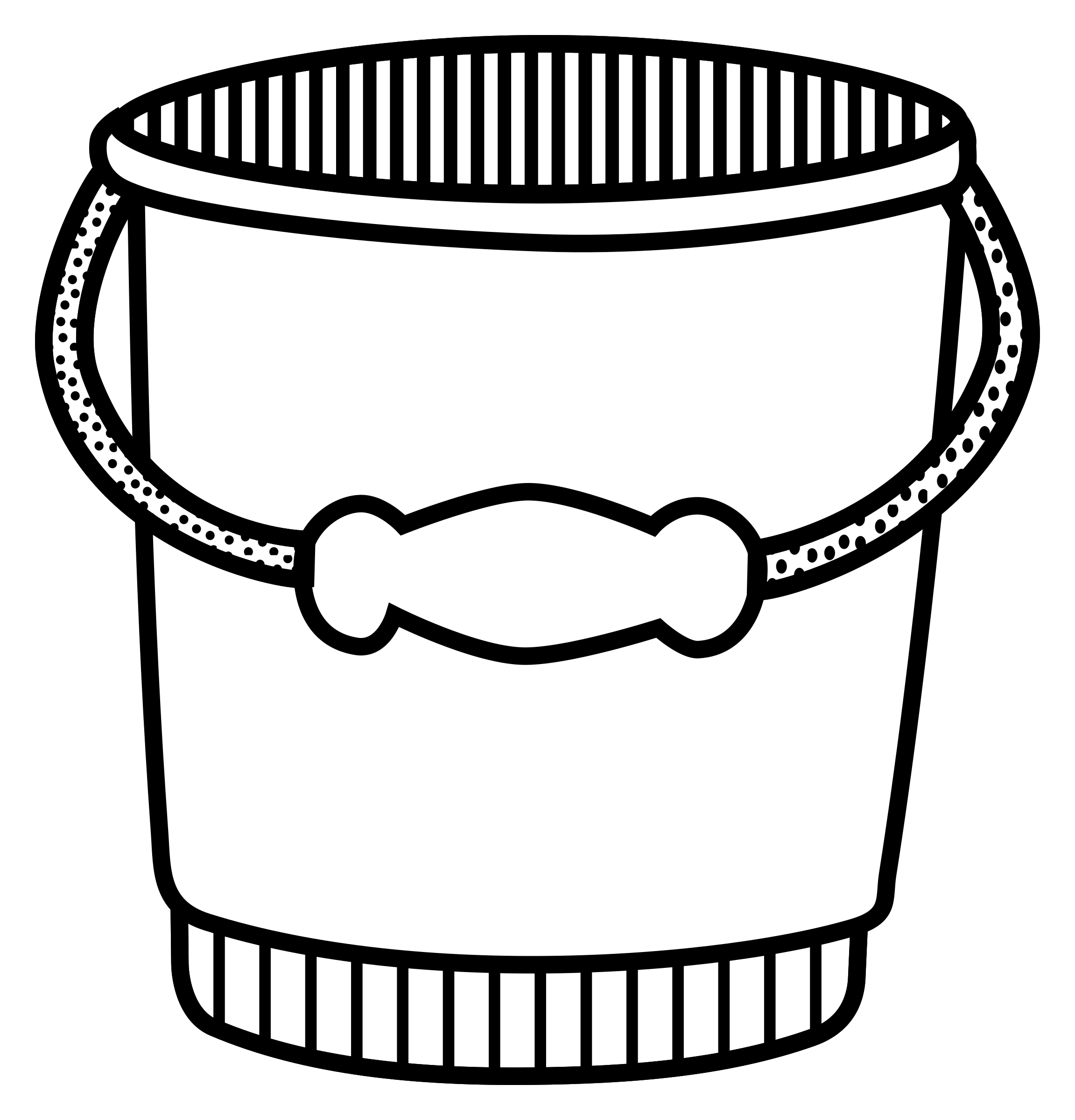 Bucket clipart black and white 4 » Clipart Station.