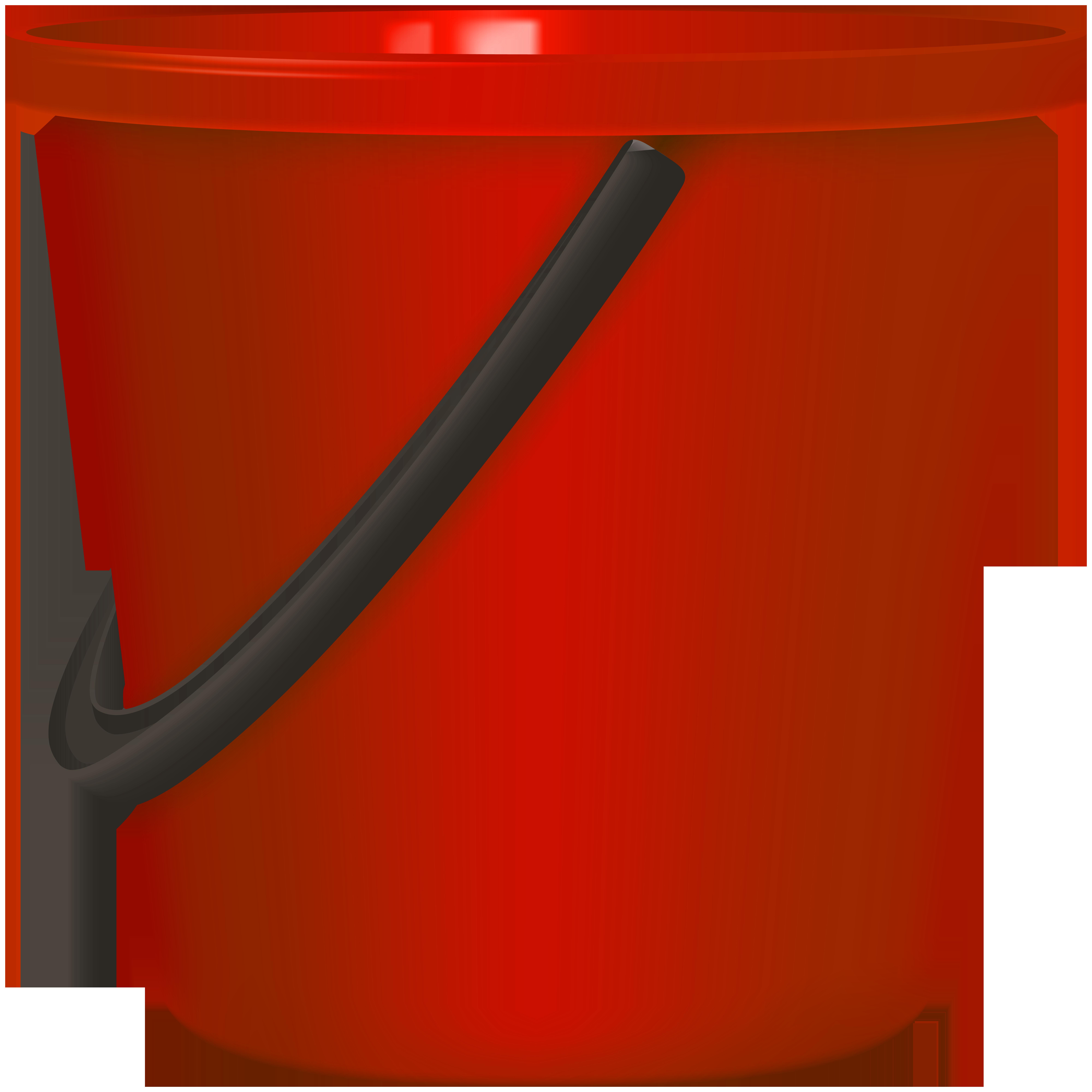 Red Bucket PNG Clip Art.