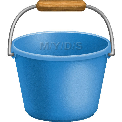 Large Bucket Clipart.